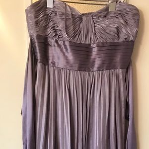 BCBG MAX AZRIA formal lavender strapless dress